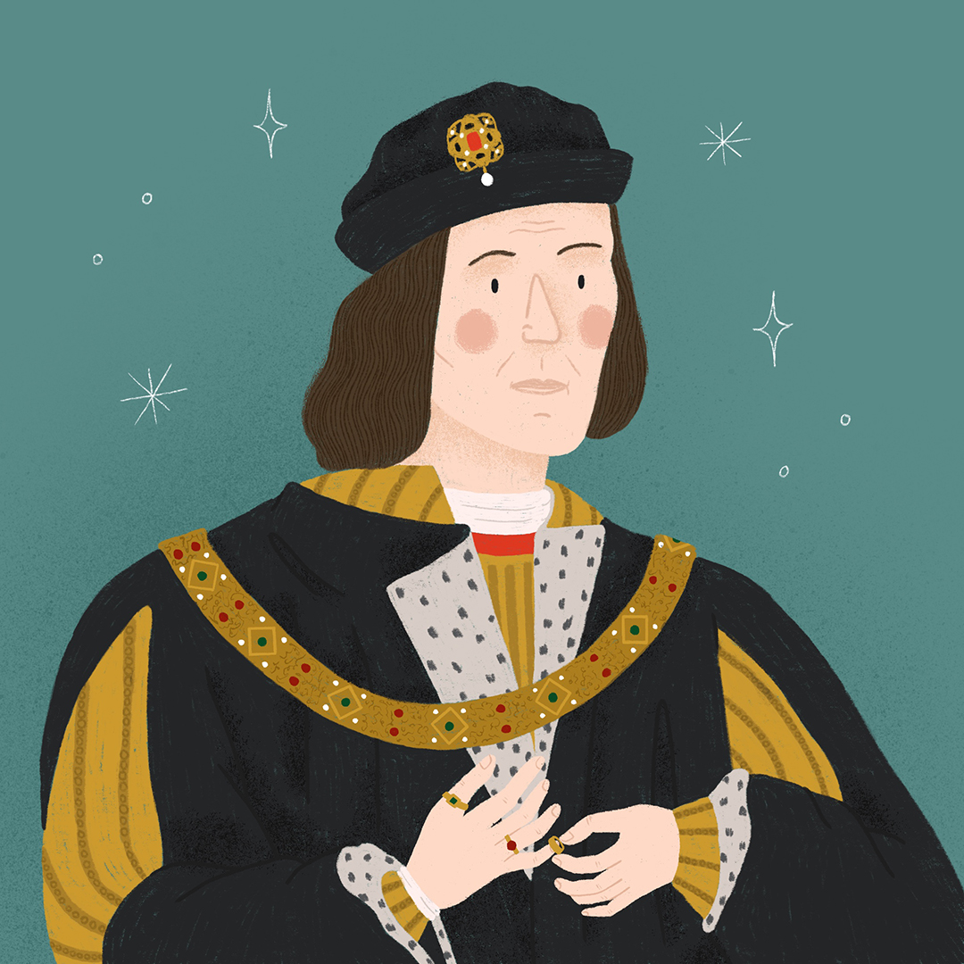 An illustrated portrait of Richard III